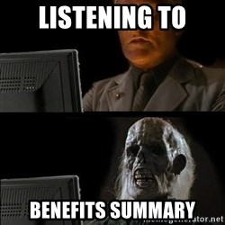 Waiting For - Listening to benefits summary