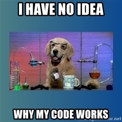 Chemistry Dog - I have no idea why my code works
