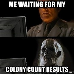 Waiting For - Me waiting for my Colony count results