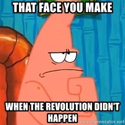 Patrick Wtf? - That face you make When the revolution didn't happen