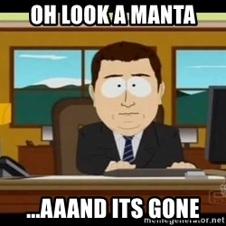 Aand Its Gone - Oh Look a Manta ...aaand its gone