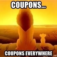 The Lion King - Coupons... Coupons everywhere