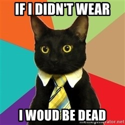 Business Cat - if i didn't wear  i woud be dead