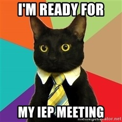 Business Cat - I'm Ready for  my IEP Meeting