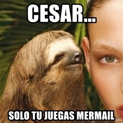 Whisper Sloth - cesar... Solo tu juegas mermail