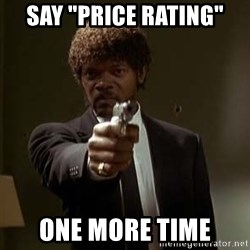 """Jules Pulp Fiction - Say """"PRICE RATING"""" One more time"""