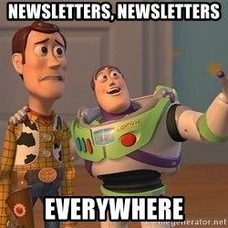 ORIGINAL TOY STORY - Newsletters, newsletters everywhere