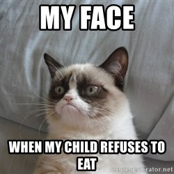 Grumpy cat good - My face When my child refuses to eat