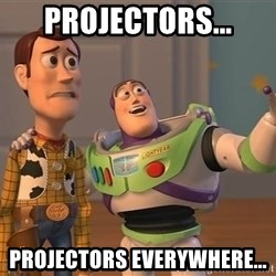 ORIGINAL TOY STORY - projectors... projectors everywhere...