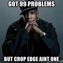 Jay Z problem - got 99 problems but crop edge aint one