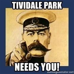 your country needs you - TIVIDALE PARK NEEDS YOU!