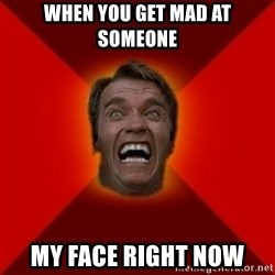 Angry Arnold - When You get mad at someone My face right now