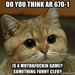 Do you think this is a motherfucking game? - Do you think AR 670-1 Is a muthafuckin game? Something funny clev?
