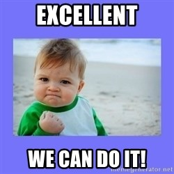 Baby fist - Excellent We can do it!