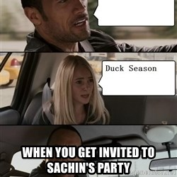 The Rock driving - When you get invited to sachin's party