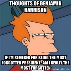 Not sure if troll - Thoughts of benjamin harrison  If i'm remeber for being the most forgotten president...am i really the most forgotten