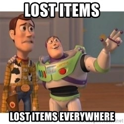 Toy story - Lost Items Lost Items Everywhere