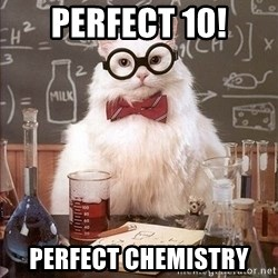 Chemistry Cat - Perfect 10! Perfect Chemistry