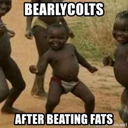 Black Kid - bearlycolts after beating fats