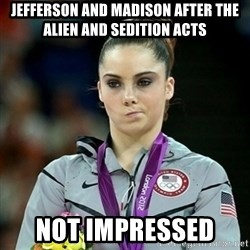 Not Impressed McKayla - Jefferson and Madison After the Alien and sedition acts not impressed