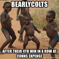 Dancing African Kid - bearlycolts after their 4th win in a row at Conns expense