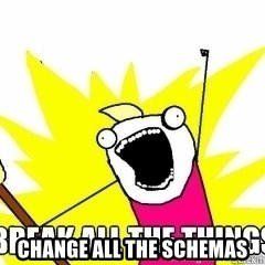 Break All The Things - CHANGE ALL THE SCHEMAS