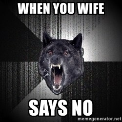 Insanity Wolf - When you wife  Says nO