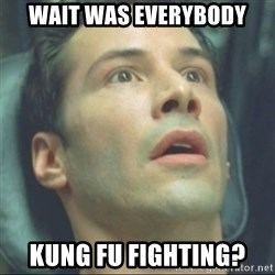 i know kung fu - Wait Was Everybody Kung fu fighting?