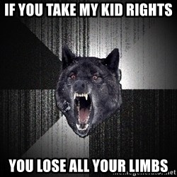 Insanity Wolf - IF YOU TAKE MY kid RIGHTS YOU LOSE ALL YOUR LIMBS