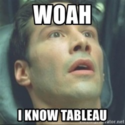 i know kung fu - Woah I know Tableau