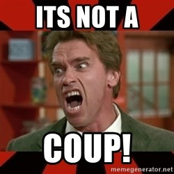 Arnold Schwarzenegger 1 - Its not a Coup!