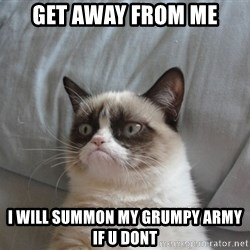 Grumpy cat good - Get away from me I WILL SUMMON MY GRUMPY ARMY IF U DONT