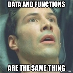 i know kung fu - Data and FUNCTIONS Are the same thing