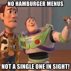 Buzz Lightyear meme - no hamburger menus not a single one in sight!