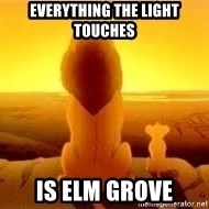 The Lion King - Everything the light touches Is elm grove