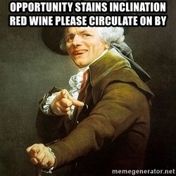 Ducreux - opportunity stains inclination red wine
