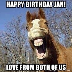 Horse - Happy Birthday Jan! Love from both of us