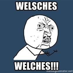 Y U No - Welsches Welches!!!