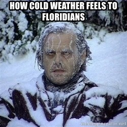 Frozen Jack - How cold weather feels to floridians