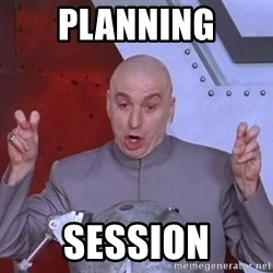 Dr. Evil Air Quotes - planning session
