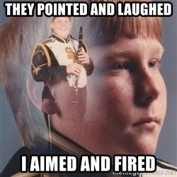 PTSD Clarinet Boy - They pointed and laughed i aimed and fired