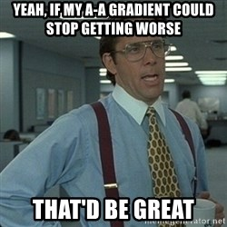 Yeah that'd be great... - Yeah, if my a-a gradient could stop getting worse that'd be great