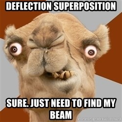 Crazy Camel lol - Deflection superposition Sure. Just need to find my beam