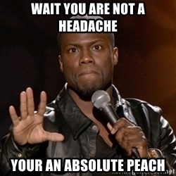 Kevin Hart - Wait You are not a headache  Your an absolute peach