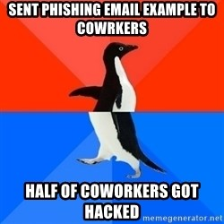 Socially Awesome Awkward Penguin - Sent phishing email example to cowrkers Half of coworkers got hacked