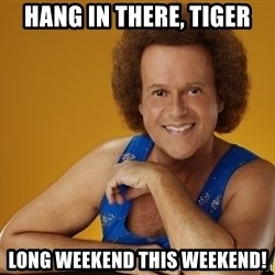 Gay Richard Simmons - Hang in there, tiger Long weekend this weekend!