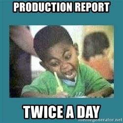 I love coloring kid - production report twice a day