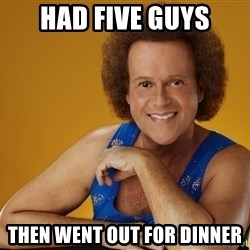 Gay Richard Simmons - Had five guys Then went out for dinner
