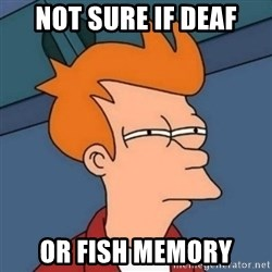 Not sure if troll - Not sure if deaf or fish memory