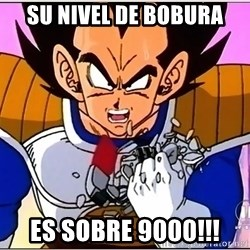 Over 9000 - Su nivel de bobura es sobre 9000!!!